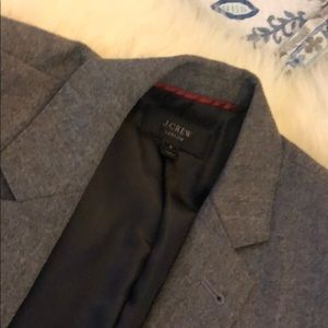 Jcrew grey wool blazer